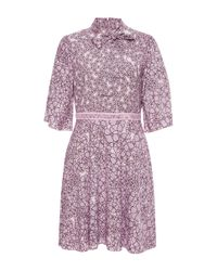 Giamba | Pink Floral Pussy Bow Dress | Lyst
