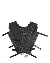 Christian Dada - Black Leather Shin Guards for Men - Lyst