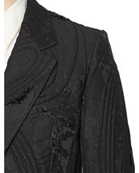Cerruti 1881 | Black Techno Cotton 3d Jacquard Jacket for Men | Lyst