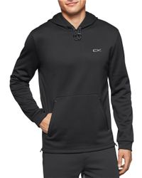 Calvin Klein | Black Performance Fleece Hoodie for Men | Lyst
