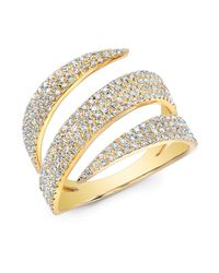 Anne Sisteron - 14kt Yellow Gold Diamond Bandeau Ring - Lyst