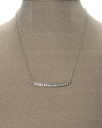 T Tahari | Metallic Silver-Tone Delicate Necklace | Lyst