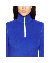 Ralph Lauren | Blue Fleece Mockneck Pullover | Lyst