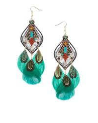 ASOS - Multicolor Dream Catcher Feather Earrings - Lyst