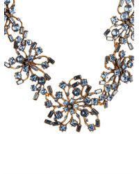 Oscar de la Renta | Metallic Firework Crystal Necklace | Lyst