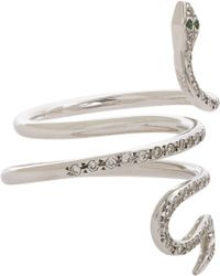 Ileana Makri | White Diamond & White-Gold Ring | Lyst