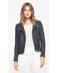 IRO - Blue Tara Moto Jacket - Lyst