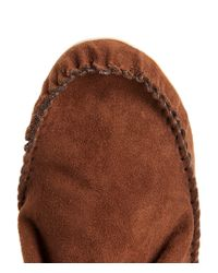 Aéropostale | Brown Faux Suede Fringed Moccasin Bootie | Lyst