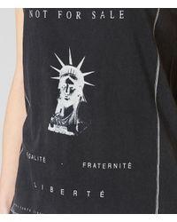AllSaints - Black Guise Boyfriend T-shirt - Lyst