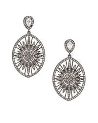Adriana Orsini | Metallic Radiance Crystal Sun Drop Earrings | Lyst