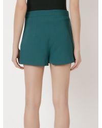Giuliana Romanno | Green Embellished Wrap Skort | Lyst