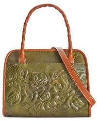 Patricia Nash | Green Tooled Paris Satchel | Lyst