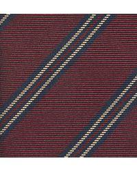 Kingsman - Purple + Drake's Striped Silk Tie for Men - Lyst