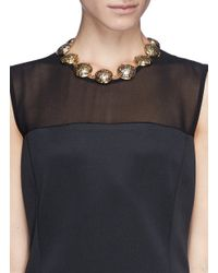 Lulu Frost - Multicolor 'audrey' Glitter Dome Station Necklace - Lyst