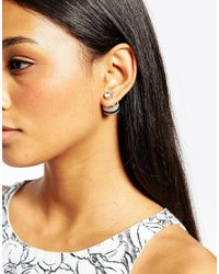 ALDO - Black Moreau Through & Through Earrings - Lyst
