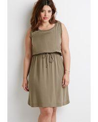 Forever 21 - Green Plus Size Drawstring Waist Dress - Lyst