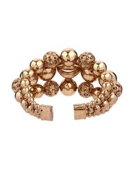 Etro - Metallic Sphere-Shaped Brass Cuff - Lyst
