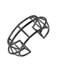 Vince Camuto - Black 'orbital' Geometric Cuff Bracelet - Lyst