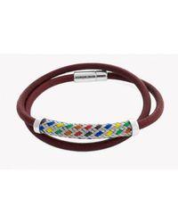 Tateossian - Silver Pop Kaleidoscope Bracelet In Red for Men - Lyst