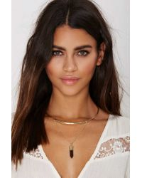 Nasty Gal - Metallic Eye Of The Tiger Collar Necklace - Lyst