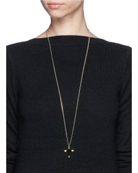 Givenchy - Metallic Cross Pendant Necklace - Lyst