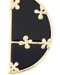 Aurelie Bidermann | Black 'bianca' Reversible Onyx Hoop Earrings | Lyst