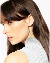 ASOS | Metallic Mismatch Open Circle Through Earrings | Lyst