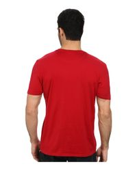 Lacoste - Red Jersey Super Fine Pima Short Sleeve Crew Neck Tee Shirt With Pocket for Men - Lyst