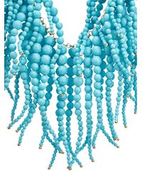 Rosantica By Michela Panero - Blue Anemone Stone-Fringe Necklace - Lyst