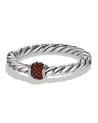 David Yurman | Metallic Osetra Bracelet With Garnet And Gold | Lyst