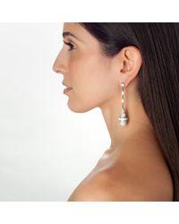 Ben-Amun | Metallic Long Crystal Teardrop Earrings | Lyst