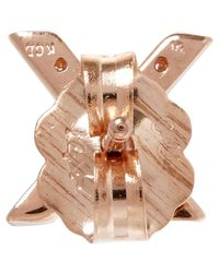 KC Designs - Pink Rose Gold Diamond X Single Stud Earring - Lyst
