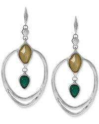 Robert Lee Morris | Multicolor Silver-Tone Large Sculptural Drop Earrings | Lyst