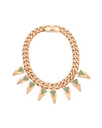Mawi | Pink Deco Fang Necklace | Lyst