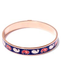 Liberty - Blue Navy Paisley Multicolour Thin Bangle - Lyst