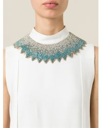 Valentino | Blue Crystal Necklace | Lyst