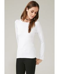 Forever 21 | White Marina T. High-low Top | Lyst