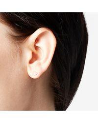 Adina Reyter | Metallic Super Tiny Solid Pavé Triangle Earrings | Lyst