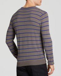 Armani   Gray Stripe Knit Sweater for Men   Lyst