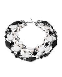 Stephen Dweck | Black Verona Agate And Pearl Choker Necklace | Lyst