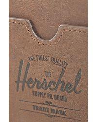 Herschel Supply Co. - The Charlie Card Holder in Brown Nubuck for Men - Lyst
