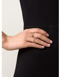Ileana Makri | Metallic Champagne Diamond & Rose-Gold Ring | Lyst