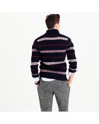 J.Crew - Multicolor Lambswool Fair Isle Cardigan Sweater - Lyst