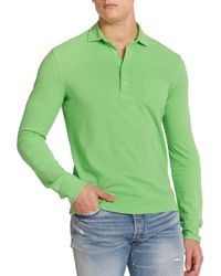 Polo Ralph Lauren | Green Featherweight Mesh Estate Long-sleeve Polo for Men | Lyst