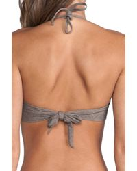 Pilyq - Aztec Detail Bandeau in Brown - Lyst