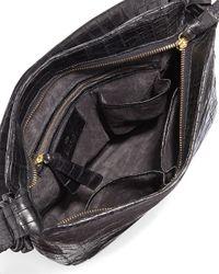 Nancy Gonzalez - Black Crocodile Medium Shoulder Bag - Lyst
