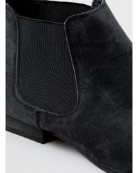 TOPMAN - Black Suedette Chelsea Boots for Men - Lyst