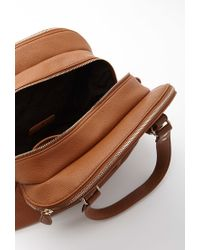 Forever 21 | Brown Faux Leather Satchel | Lyst