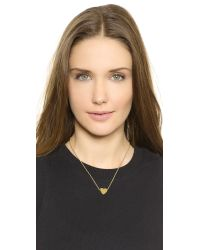kate spade new york - Metallic Dear Valentine Love Necklace - Gold - Lyst