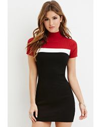 Forever 21 - Red Colorblocked Bodycon Dress - Lyst